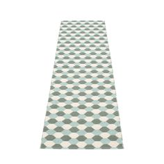 Dana - Plastic rug 70 cm wide, Color: Army · Pale Turquoise · Vanilla, Crafted with love and pride in Sweden. Design Store, Floor Coverings, Woven, Plastic Rug, Rugs, Scandinavian Design, Beautiful Rug, Hallway Designs, Hexagon