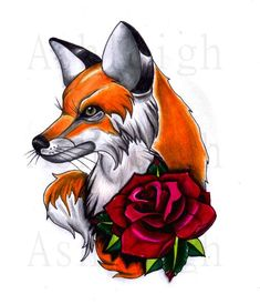 fox tattoo traditional - Cerca con Google