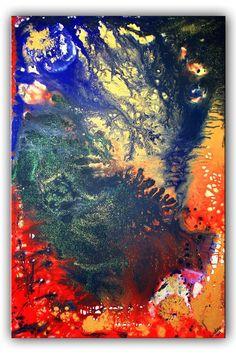 BURGSTALLER Gemälde Leinwand Bild Abstrakte Malerei XXL Blau rot gelb Kontinente