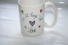 Do all Things with Love Vintage Mug by Castawayacres on Etsy