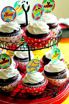 Mickey Mouse Party cupcakes- Amanda's Parties To Go