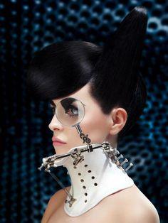 Headdress? Neckdress? Interesting design. By Katarzyna Konieczka