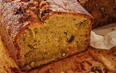Nicknamed 'the green goddess', this savoury cake has a subtle sweetness from   the juicy golden raisins