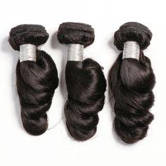 Loose Wave Brazilian and Peruvian bundles at discounted prices. Virgin Hair Bundles, Loose Waves, Loose Waves Hair, Loose Curls