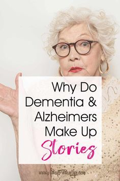 Today we are going talk about confabulation, delusions and hallucinations in dementia and Alzheimers and why our loved ones lie. PLUS tips and ideas for how to protect them and ourselves as caregivers when these stories get out of control. Dementia Care, Alzheimer's And Dementia, Dementia Awareness, Vascular Dementia, Alzheimer Care, Dementia Stages, Dementia Facts, Dementia Quotes, Alzheimers Quotes