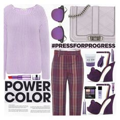"""International Women's Day: Purple Power"" by piedraandjesus ❤ liked on Polyvore featuring Rebecca Minkoff, Mansur Gavriel, Acne Studios, Charlotte Olympia, Whiteley, Gucci, 3ina, Balmain, By Terry and Urban Decay"