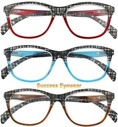 a1ee256d6c Reading Glasses Women 3 Pack Design Stylish Readers Great Value Quality  Glasses