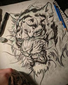 I got so many tigers to draw coming up. This one is for Ryan. Get your beast m… I got so many tigers to draw coming up. This one is for Ryan. Get your beast mode on this week! Stay motivated, don't fight your… Tiger Sketch, Tiger Drawing, Tiger Art, Tattoo Sketches, Tattoo Drawings, Body Art Tattoos, Sleeve Tattoos, Tattoo Ink, Arm Tattoo