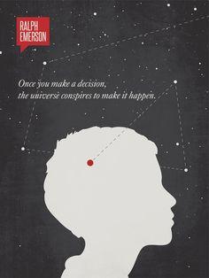 Poster Quote Art Print Minimalist Poster Quote por DesignDifferent