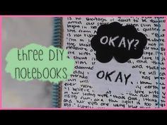 ▶ DIY The Fault in Our Stars Notebook +2 Others - YouTube...making the last one for @Evan Sharp S
