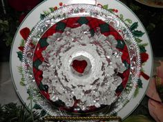 Another beautiful Christmas flower.  This one has a rich look!  MiMi's Plate Flowers
