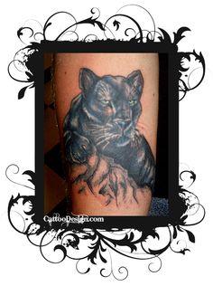 Black Panther Tattoo: Tattoo artist: Tracy at Arsnick Art Tattoo, Denver, Colorado