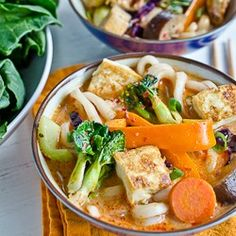 Vegetarian Thai Curry with Udon