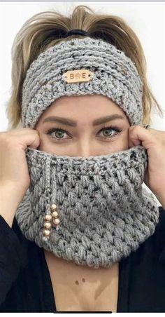Crochet Hat For Women, Cute Crochet, Knit Crochet, Double Crochet, Crochet Pouch, Simple Crochet, Easy Crochet Headbands, Crochet Scarves, Crochet Clothes
