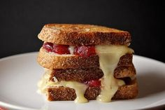 Cranberry Brie Grilled Cheese, get in the tummy. Now.