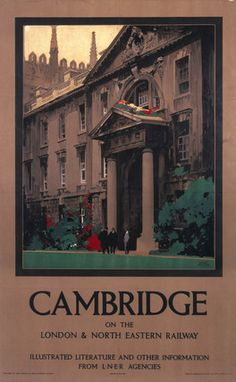 Cambridge, Vintage UK Railway Poster