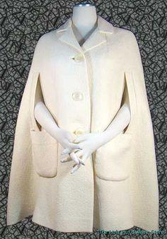 MOD Vintage 60's Cream WOOL 3/4 Length CAPE - COAT Big Hip Pockets, S @ THE HULA HUT & MORE STORE    http://www.ebay.com/itm/MOD-Vintage-60s-Cream-WOOL-3-4-Length-CAPE-COAT-Big-Hip-Pockets-S-/321027671661?pt=Vintage_Women_s_Clothing=item4abebd866d