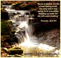 Proverbs 18:4 The Passion Translation