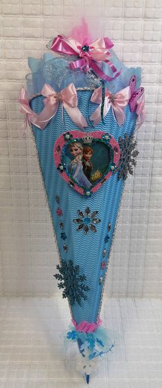 Schultüte Zuckertüte Mädchen Frozen Eiskönigin Elsa Anna Handarbeit Unikat