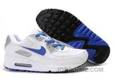 https://www.jordanse.com/nike-air-max-90-mens-white-blue-gray.html NIKE AIR MAX 90 MENS WHITE BLUE GRAY Only $79.00 , Free Shipping!