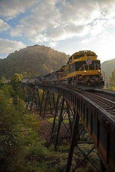 Coal train. Slab Fork ,West Virginia