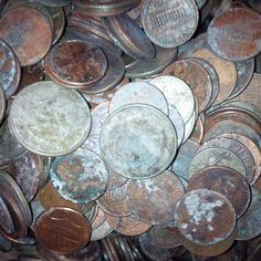 Fountain coins from New York City were corroded and rusty. But, these dirty, old coins were no match for us!  It contained a nice mix of denominations, higher than usual presence of quarters.  Coins cleaned up nicely and banked at nearly 100%.  Happy customer.
