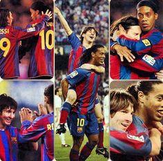 Messi and Ronaldinho  FC Barcelona