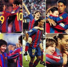 Messi and Ronaldinho  FC Barcelona