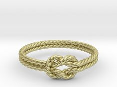 Sailor knot rope ring. You can customize it online even from your mobile.
