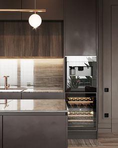 Project Raft on Behance Luxury Kitchen Design, Kitchen Room Design, Home Decor Kitchen, Modern Interior Design, Kitchen Interior, Home Kitchens, India Home Decor, Luxury Dining Room, Cuisines Design