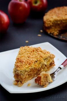 Try These Simple Healthy Vegan Snacks Caramel Recipes, Apple Pie Recipes, Baking Recipes, Dessert Recipes, Greek Desserts, Greek Sweets, Greek Recipes, Chocolates, Apple Crumble Pie