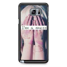 Sia I'm A Mess TATUM-9588 Samsung Phonecase Cover Samsung Galaxy Note 2 Note 3 Note 4 Note 5 Note Edge