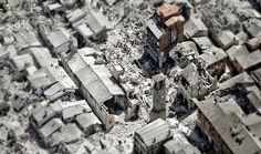 La devastazione del centro storico di Amatrice  vista dall'alto  (Ap Photo) 24.08.2016