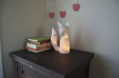 Electrified Fox Lamp Tutorial (or how to turn any stuffed animal into a lamp.)