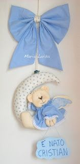 IL FATTO A MANO DI MARIA LUISA: fiocco nascita Baby Shawer, Felt Baby, Baby Art, Baby Toys, Name Crafts, Crafts To Do, Felt Crafts, 2nd Baby Showers, Baby Shower Parties