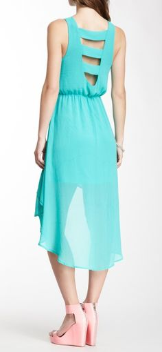 Teal Hi-Lo Dress