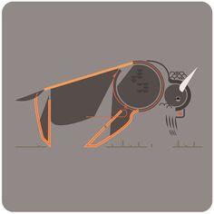 "Bison; from the ""Animais"" series by Leandro Castelao. http://leandrocastelao.com.ar/work/15-Animais"