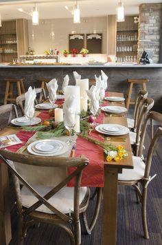 Table setting - Alpine Ski Club, The Blue Mountains, Ontario