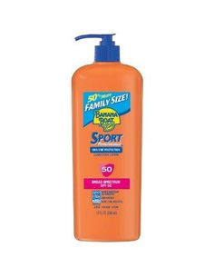 Banana Boat Sport SPF 50 Family Size Sunscreen Lotion, 12-Fluid Ounce***Fragrance-Free,Non-Greasy,Won't run into eyes,Very Water/Sweat Resistant,Hypoallergenic formula,.