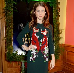 Anna Kendrick Dons Adorable Christmas Sweater-Style Dress  #InStyle