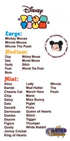 Tsum Tsum Checklist!! #tsumtsum New Alice in Wonderland Tsum Tsum at Disney Stores and Parks