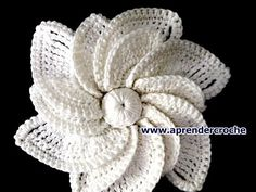 12-Petal Crocheted Spiral Flower Tutorial 69 Flower to Crochet - YouTube