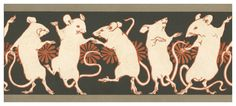 Art Nouveau Dancing Mice Art -thinking about introducing creature that live under ground to my designs Art And Illustration, Art Nouveau, Art Deco, Rat Tattoo, Japanese Art, Art Inspo, Moose Art, Arts And Crafts, Sketches