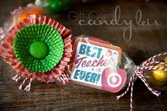 Teacher gifts - Candy Leis