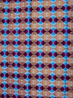 Wax Print Super Woodin African Fabric 6 Yards 100% Cotton Snice110207