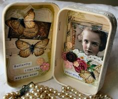 Sweet Butterfly Altered Tin