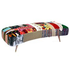 Fattouch Patchwork Bench Multi now featured on Fab.