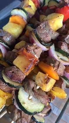 Kabob Marinade Fish Recipes, Beef Recipes, Chicken Recipes, Cooking Recipes, Kabob Marinade, Beef Marinade, Beef Appetizers, Teriyaki Beef, Marinated Mushrooms