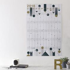 2018 Year Planner : Gold Foil