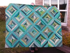 Free String Quilt Patterns   March 2010: Turquoise and white quilt for my older daughter's ...